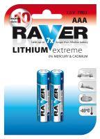 Lithiová baterie RAVER FR03 (AAA), blistr, B7811