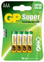 Alkalická baterie GP Super LR03 (AAA), blistr, B1311