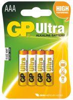 Alkalická baterie GP Ultra LR03 (AAA), blistr, B1911