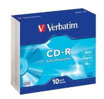 VERBATIM CD-R 80 52x EXTRA slim 10pck/BAL, 43415
