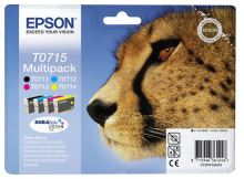 EPSON cartridge T0715 (black/cyan/magenta/yellow) multipack (gepard), C13T07154010