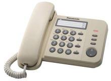 Panasonic KX-TS520FXJ - jednolinkový telefon, béžový, KX-TS520FXJ