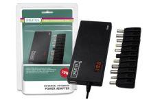 Digitus univerzální napájecí adaptér pro notebooky 70W, 11 konektorů, USB, Slim, DA-10070