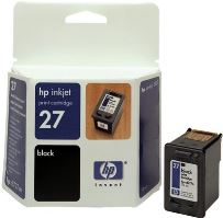 HP C8727AE Ink Cart No.27 pro DJ 3325, 3420, 3550, 3650, 10ml, Black, C8727AE