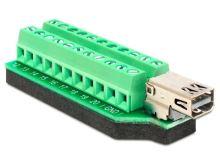 Delock Adaptér Mini Displayport samice > svorkovnice 22 pinů, 65394