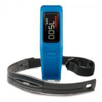Garmin Vivofit Blue HR - monitorovací náramek/hodinky/měřič tepu, bez nutnosti nabíjení, 010-01225-34