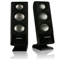 Crono CS-2003 - reproduktory 2.0, 6W, USB, černé, CS-2003