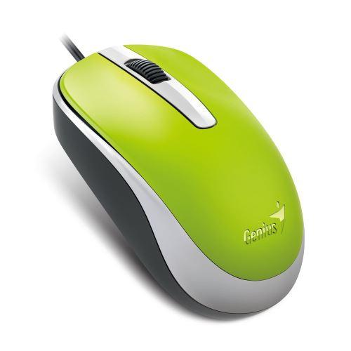 Genius myš DX-120/ drátová/ 1200 dpi/ USB/ zelená, 31010105110