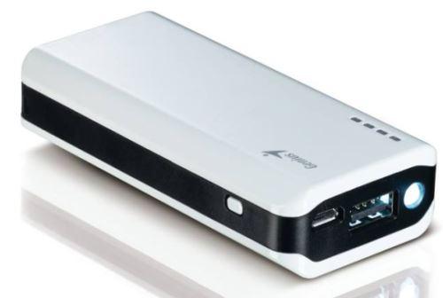 GENIUS napájecí zdroj Power Bank ECO-u622/ 6000mAH/ LED svítilna/ bílý, 39800011102