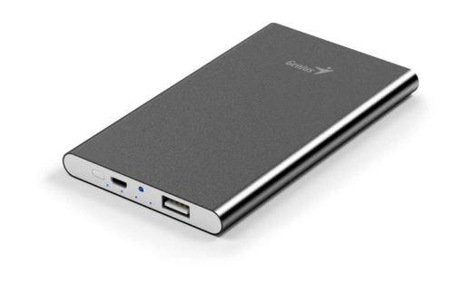 GENIUS napájecí zdroj Power Bank ECO-u540/ 5.400 mAH/ Apple design/ hliníkový/ šedá, 39800016103