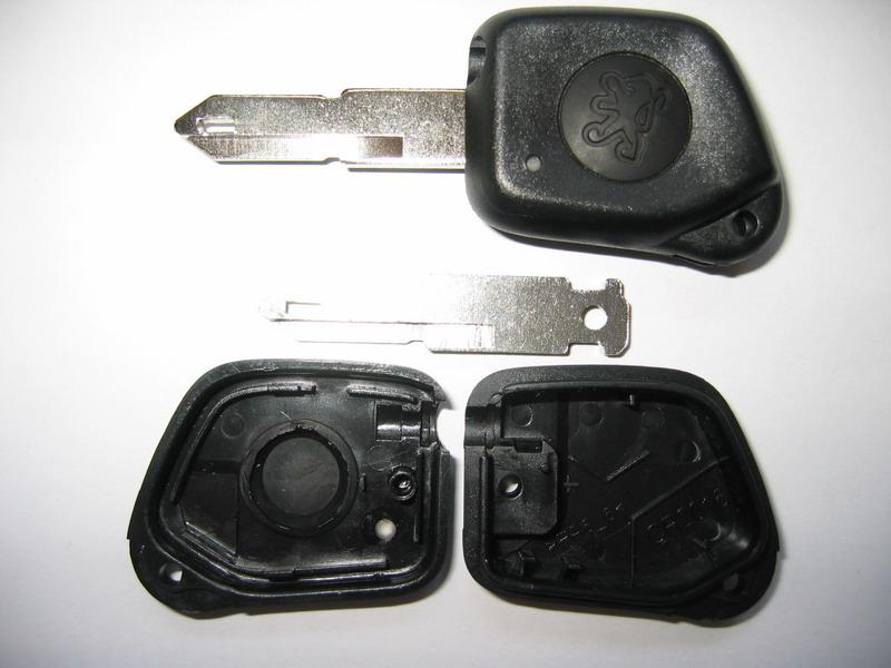 Náhr. obal klíče pro Peugeot, 1-tlačítkový