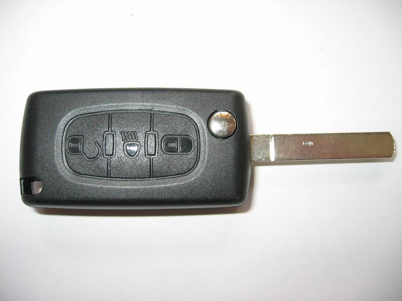 Náhr. obal klíče pro Peugeot, 3-tlačítkový