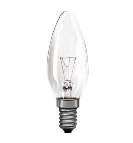 Žárovka otřesu vzdorná E14 40W svíčka