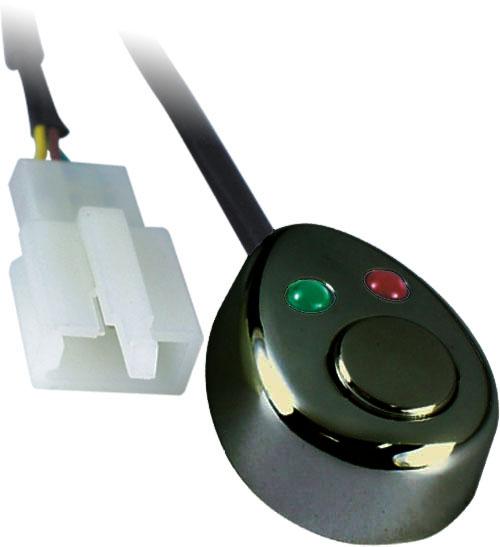 Spínač tlačítkový 12/24V s LED podsvícením