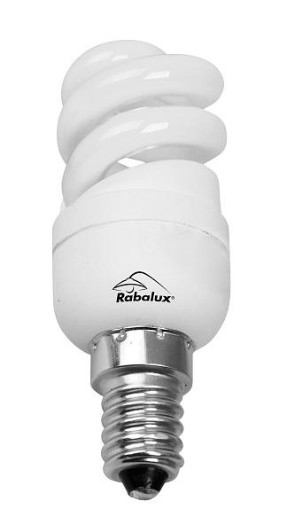 Rabalux E14 5W 183lm mini full spiral compact fluorescent 10000h 2700K 1729
