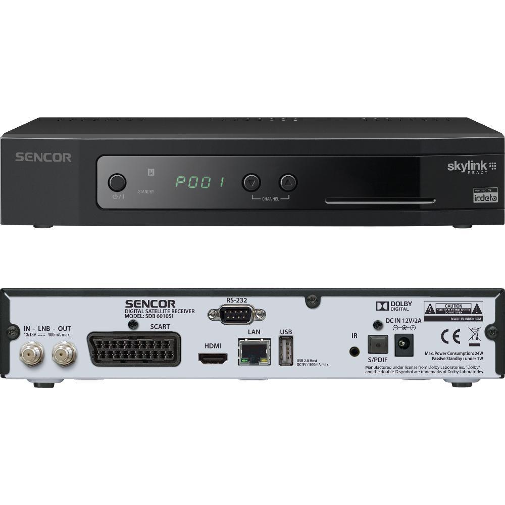 SDB 6010SI DVB-S2 IRDETO USB PVR SENCOR