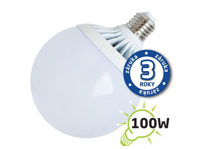 Žárovka LED G120 E27 18W bílá přírodní (Al) TIPA