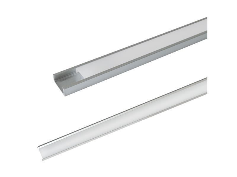 AL profil pro LED, AS5 + plexi k přisazení 15,2x6mm l=2m (zasunovací)