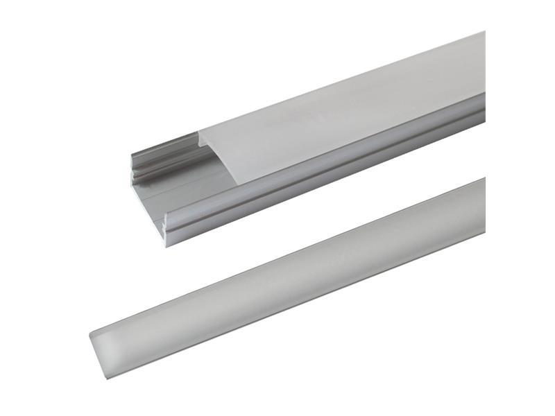 AL profil pro LED, AS3 + plexi k přisazení pro více pásku 23,5x11mm l=1m (zacvakávací/zasunovací)