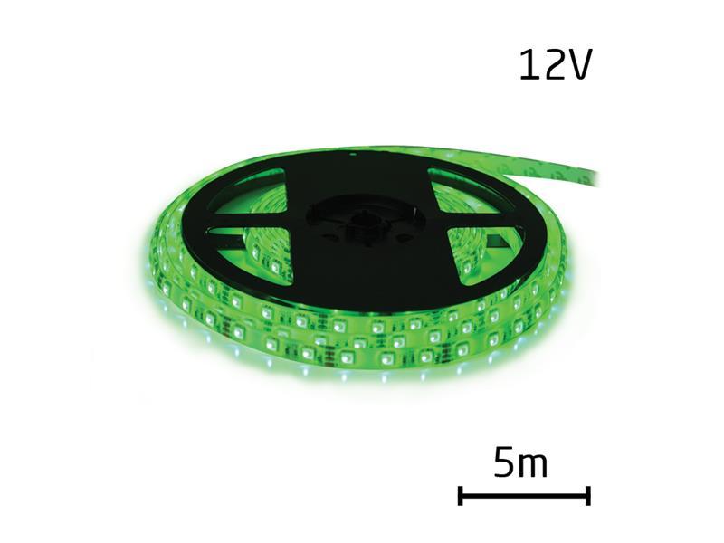 LED pásek 12V 5050 60LED/m IP65 max. 14.4W/m zelená (1ks=cívka 5m) zalitý