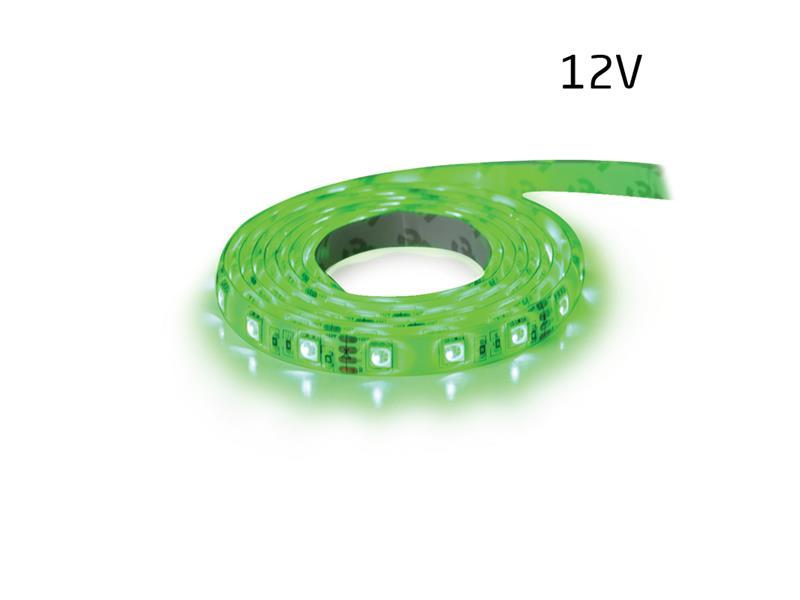LED pásek 12V 5050 60LED/m IP20 max. 14.4W/m zelená (1ks=5cm)
