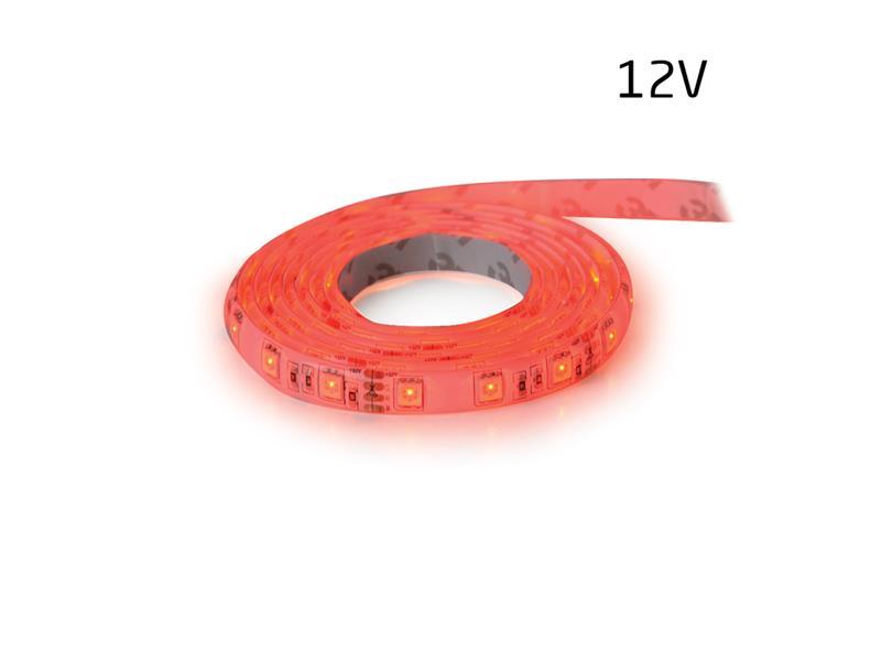 LED pásek 12V 5050 60LED/m IP65 max. 14.4W/m červená (1ks=5cm) zalitý