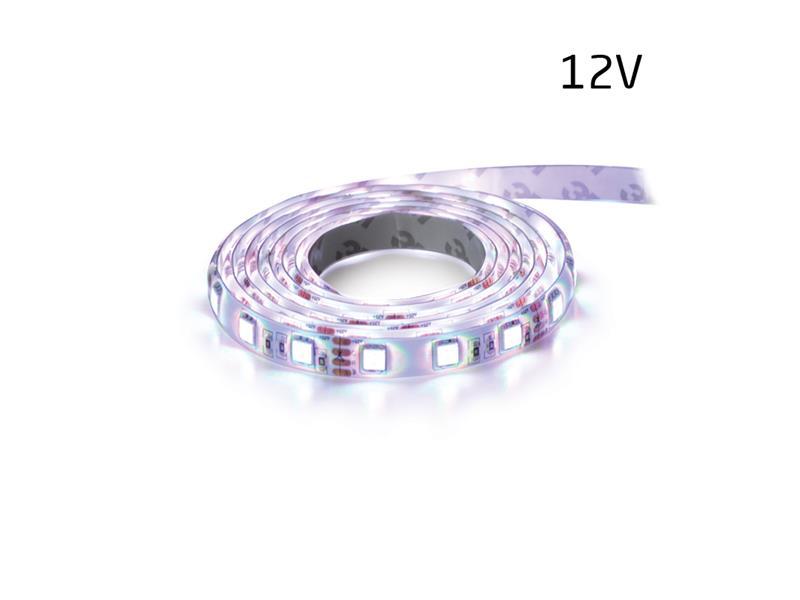 LED pásek 12V 5050 60LED/m IP65 max. 14.4W/m bílá studená (1ks=5cm) zalitý