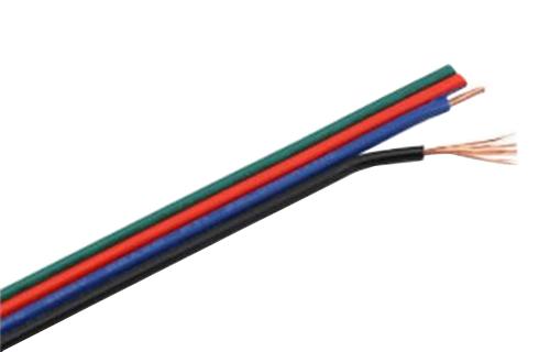 RGB kabel pro LED pásky, 4 x 0,3 mm2