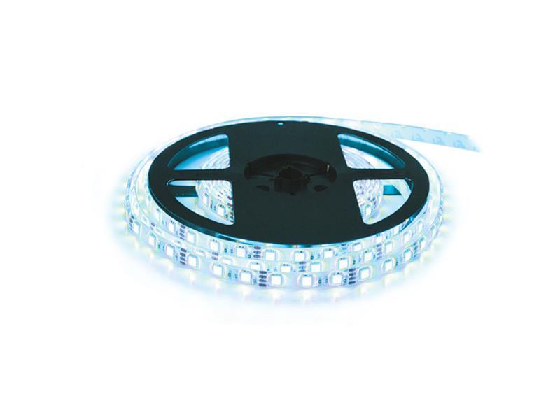 LED pásek 12V 5050 60LED/m IP65 max. 14.4W/m ice blue (cívka 10m)