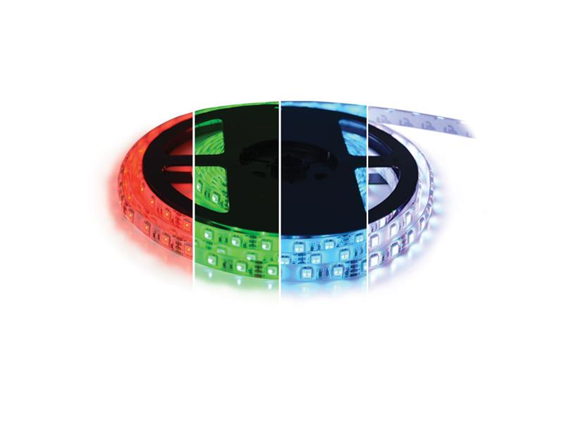 LED pásek 12V 5050 60LED/m IP67 max. 14.4W/m RGBW bílá studená (1ks=cívka 5m) zalitý
