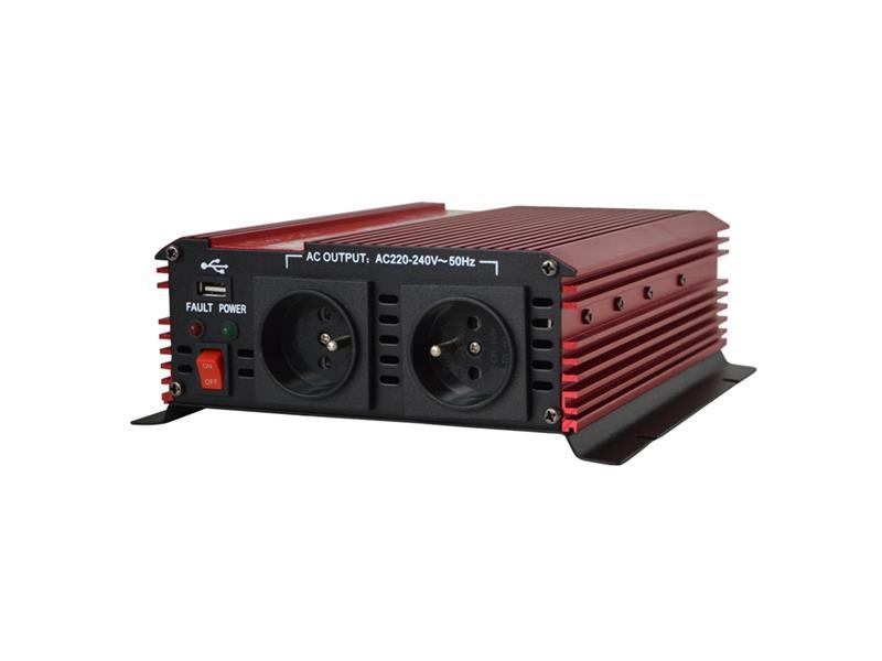 Měnič napětí 12V/230V 1600W CZ CARSPA