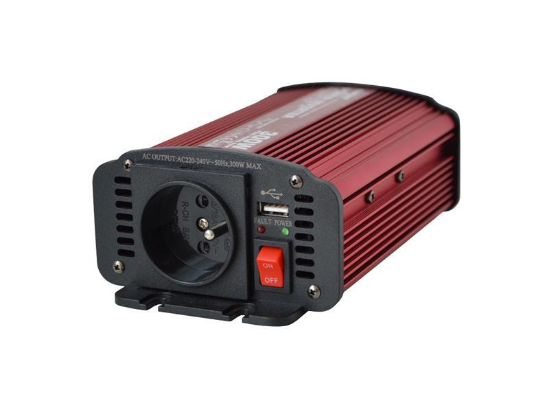 Měnič napětí 24V/230V 300W CZ CARSPA
