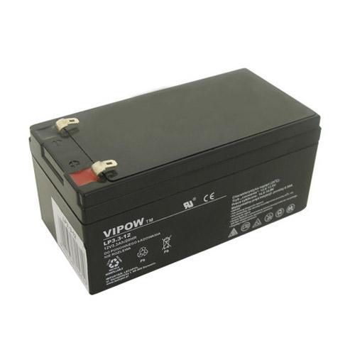 Baterie olověná 12V/ 3.3Ah VIPOW bezúdržbový akumulátor