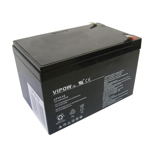 Baterie olověná 12V/14Ah VIPOW bezúdržbový akumulátor