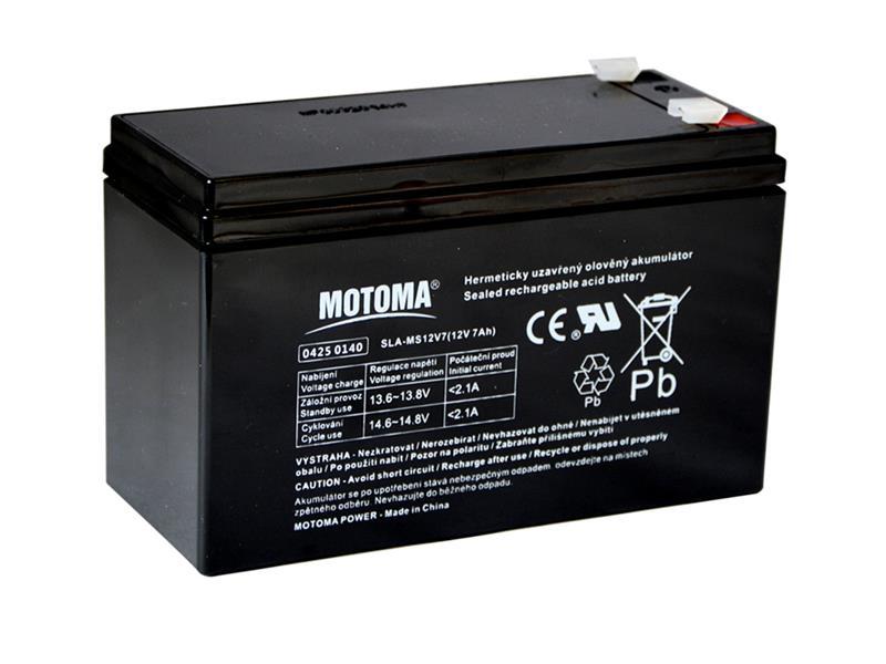 Baterie olověná 12V/ 7Ah MOTOMA bezúdržbový akumulátor
