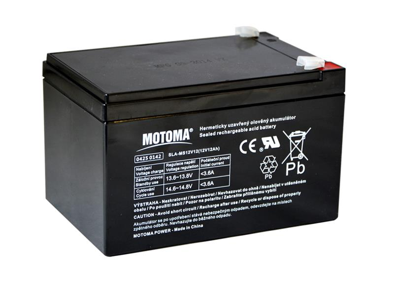 Baterie olověná 12V/12Ah MOTOMA bezúdržbový akumulátor