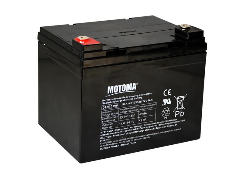 Baterie olověná 12V/33Ah MOTOMA bezúdržbový akumulátor