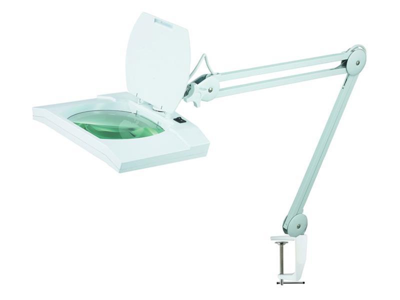 Lupa stolní obdélník ( svorka ) 5diop. LED(108x) 8069D