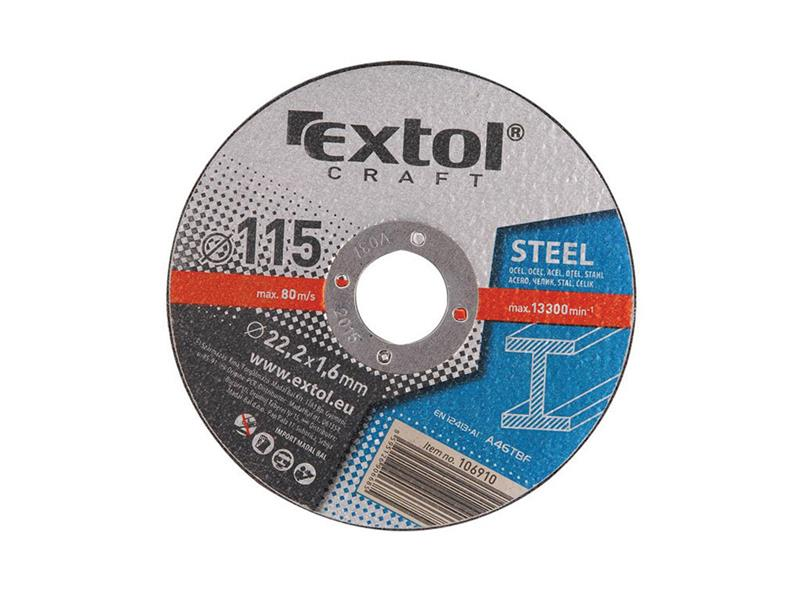 Kotouče řezné na kov, 5ks 150x1,6x22,2mm EXTOL CRAFT 106930