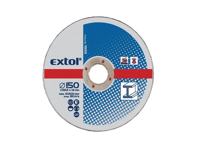 Kotouče řezné na kov, 5ks 230x2,5x22,2mm EXTOL CRAFT 108050