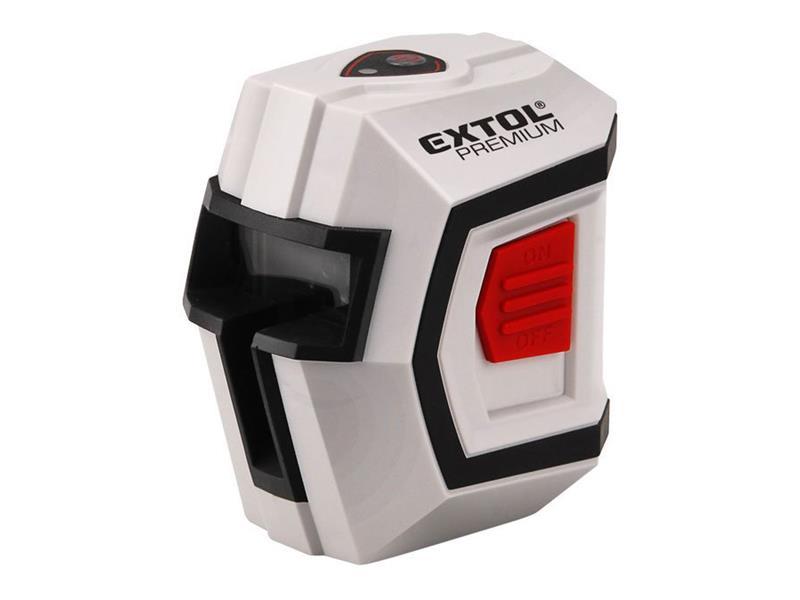 Laser liniový, křížový samonivelační 1H1V, přesnost 0,5mm/m, rozsah l.: 10m, EXTOL PREMIUM 8823301