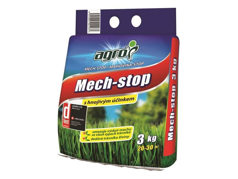 Hnojivo trávníkové AGRO MECH STOP 3 kg proti mechu