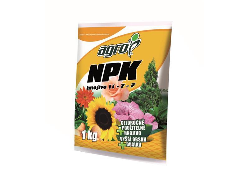 Hnojivo minerální AGRO NPK 11-7-7 se zeolitem 1 kg