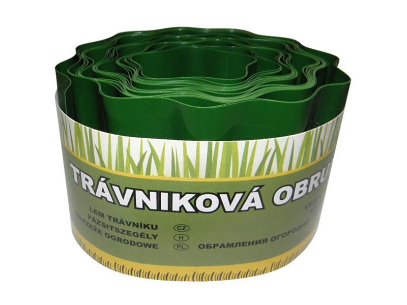 Okraj trávníku 9 m - 15 cm zelený