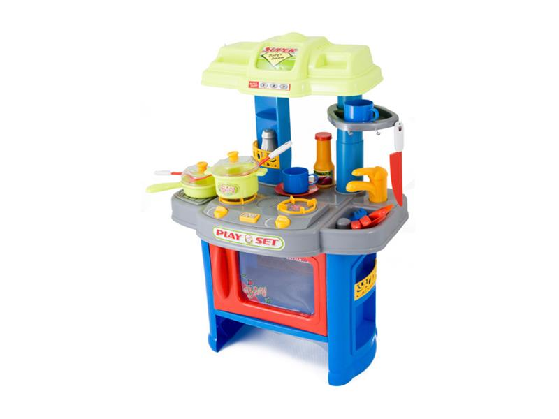 Kuchyňka dětská G21 s příslušenstvím modrá