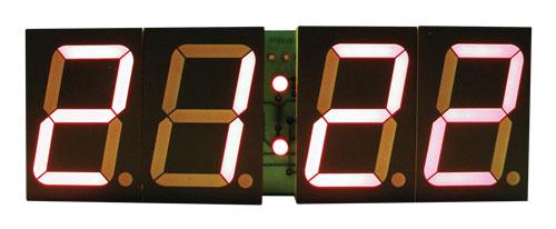 Stavebnice TIPA PT011B CMOS digitální hodiny s 45mm červenými LED displeji