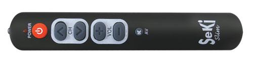 Ovladač dálkový SEKI SLIM černý pro seniory - univerzální - velká tlačítka