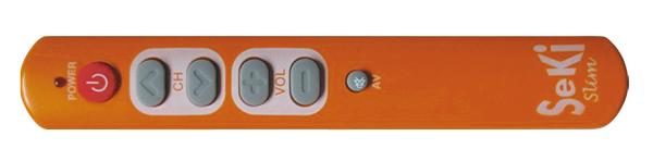 Ovladač dálkový SEKI SLIM oranžový pro seniory - univerzální - velká tlačítka