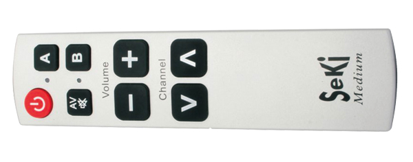 Ovladač dálkový SEKI MEDIUM stříbrný pro seniory - univerzální - velká tlačítka