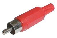 Konektor CINCH kabel plast červený